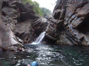 Super Sprung in's Wasser