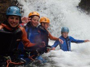 Schüler im Einsteigercanyon Gunzesried