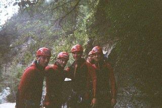 Gruppe von Canyoning Leuten im Allgäu