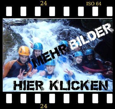Canyoning Bayern Tessin Teilnehmer im Pool