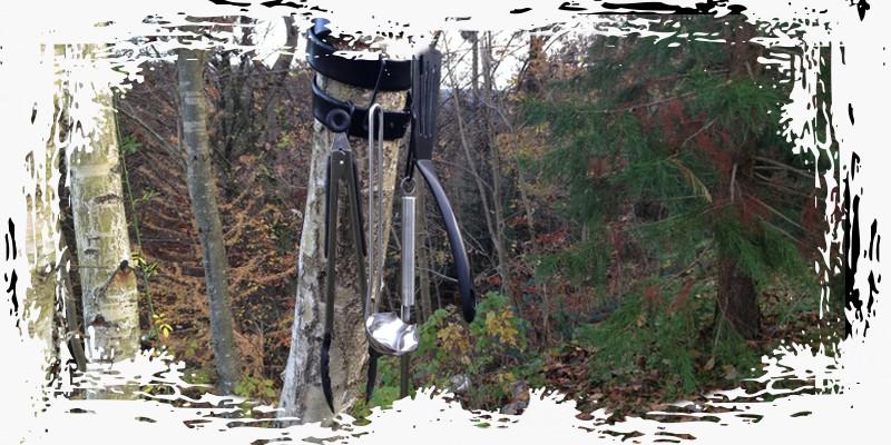 Canyoning Tessin Kochutensilien aufhaengen