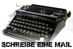 Schreibmaschine in der Schlucht