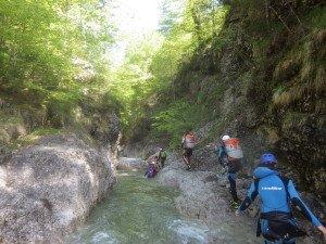 Canyoning Bayern Sylvenstein 1