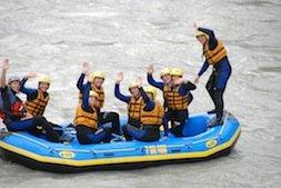 Tolles Rafting und alle lachen