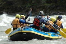 Raft Boot von hinten