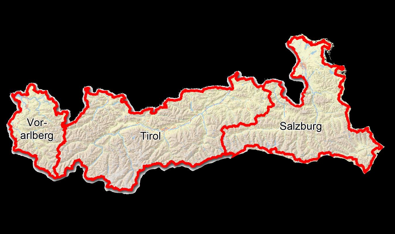 Canyoning Oesterreich Karte