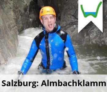 Canyoning Oesterreich Salzburg Almbachklamm