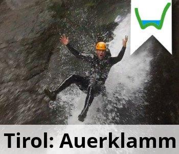 Canyoning Oesterreich Tirol Auerklamm