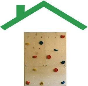 kleine Kletterwand indoor