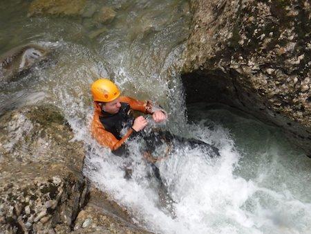 Viel Wasser beim Canyoning Deutschland Tour im Allgäu
