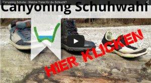 Canyoning Allgaeu Schuhe Schlucht