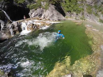 Canyoning Allgaeu Stuibenfaelle 2