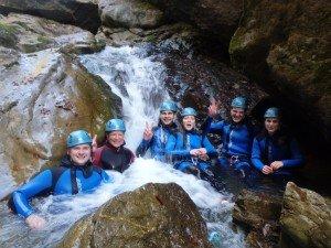 Teamtraining im Wasserfall