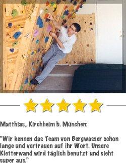 Kletterwandkaufen Kundenstimme von Holger