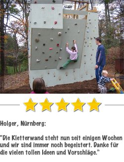 Kletterwandkaufen Kundenstimme von Klaus