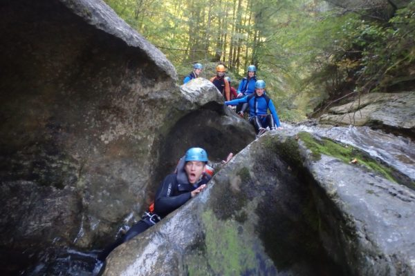 Sonne beim Canyoning