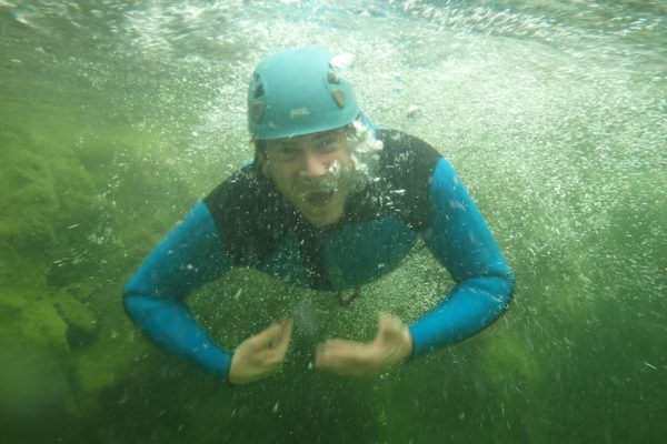Unterwasserbild vom Bach
