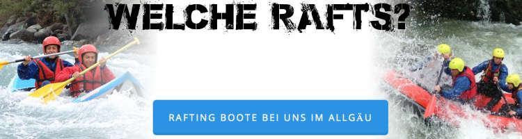 Rafting Allgaeu Bayern Bergwasser Boote Banner k