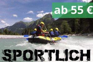 Grosses Rafting Boot im Bayern Allgäu