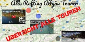 Übersicht Rafting Touren Allgäu