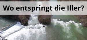 Illerursprung von oben aufgenommen mit Wildwasser und natur